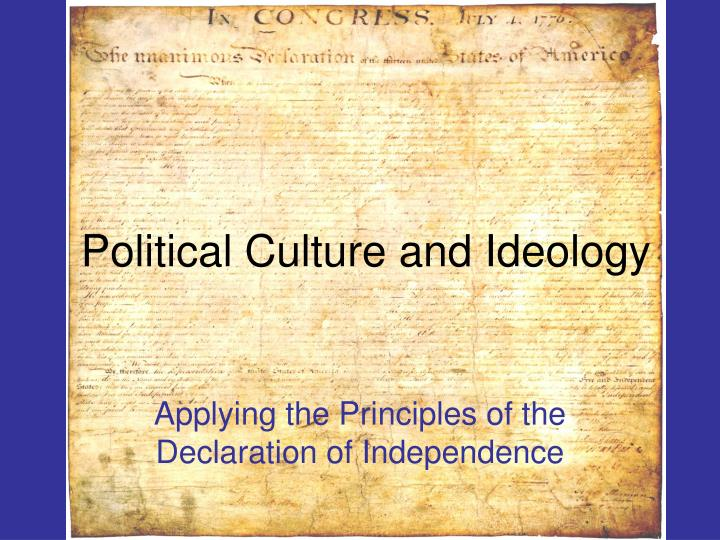political culture and ideology n.