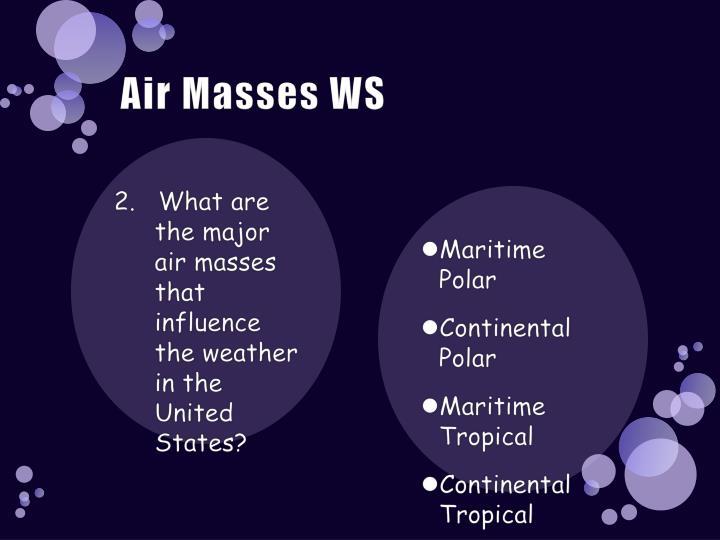 Air masses ws2