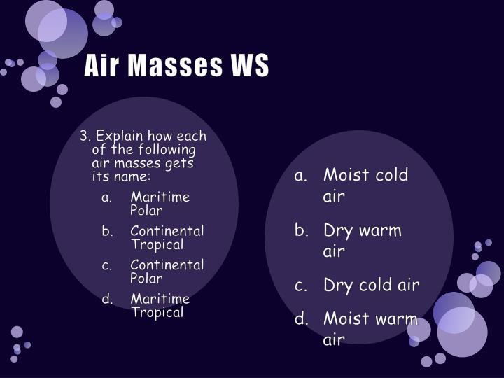 Air Masses WS
