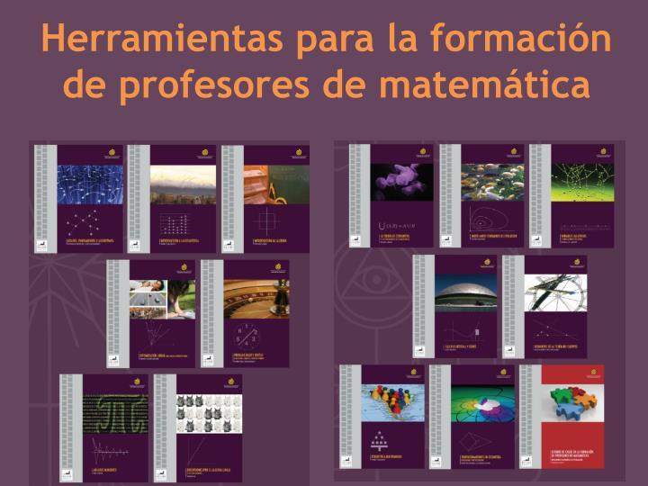 Herramientas para la formación de profesores de matemática