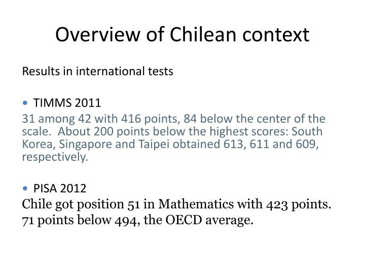 Overview of chilean context1