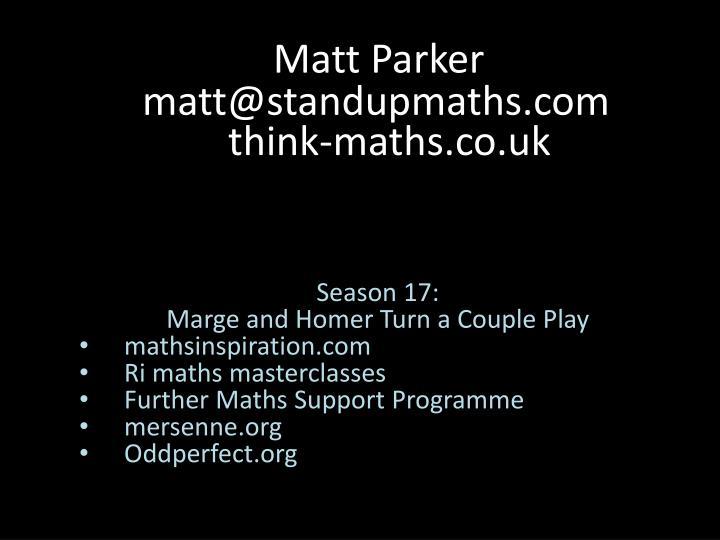 Matt parker1