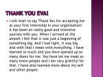 thank you eva