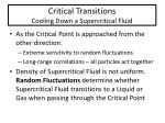 critical transitions cooling down a supercritical fluid