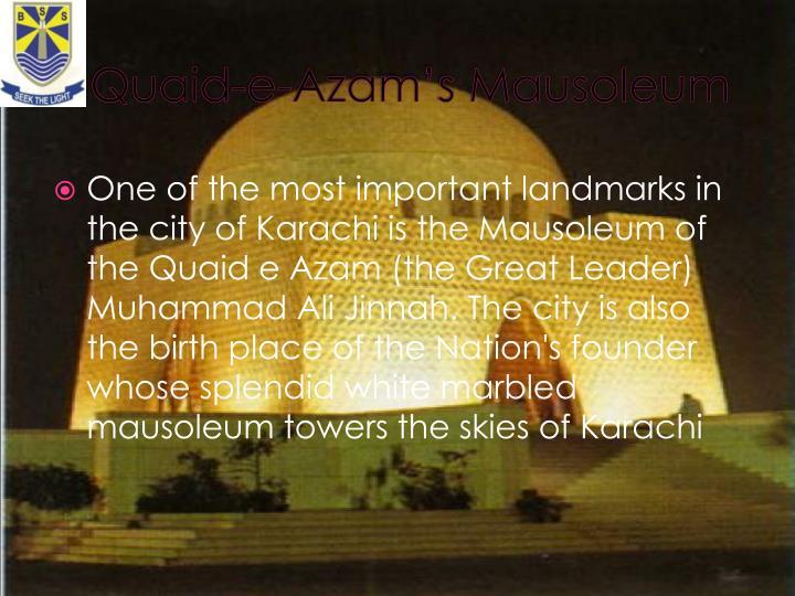 Quaid e azam s mausoleum