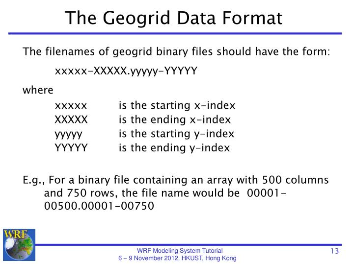 The Geogrid Data Format