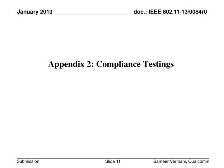 Appendix 2: Compliance