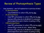 review of photosynthesis types1