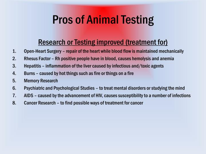 animal testing pro or con Animal testing is a controversial practice that provokes many difficult ethical  arguments any discussion of animal testing pros and cons must.