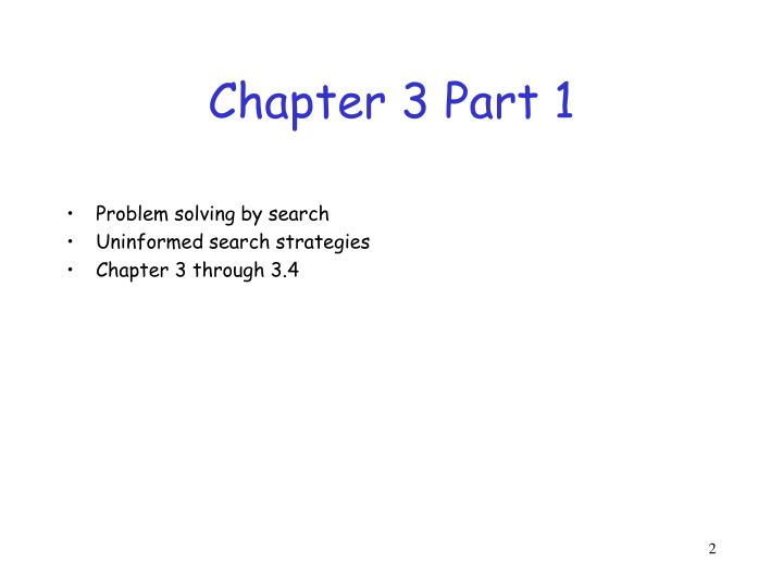 Chapter 3 part 1