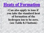 heats of formation2