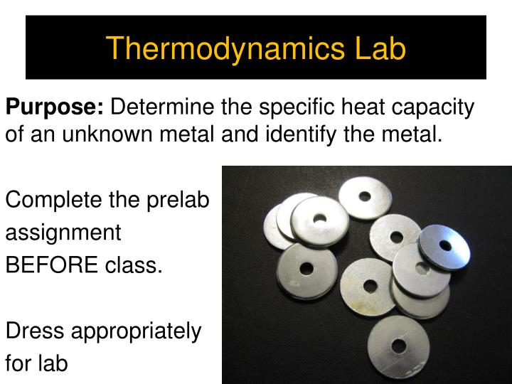 Thermodynamics Lab