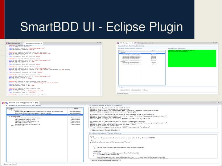 SmartBDD UI - Eclipse Plugin