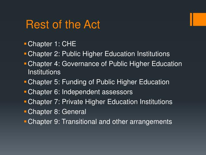 Rest of the Act