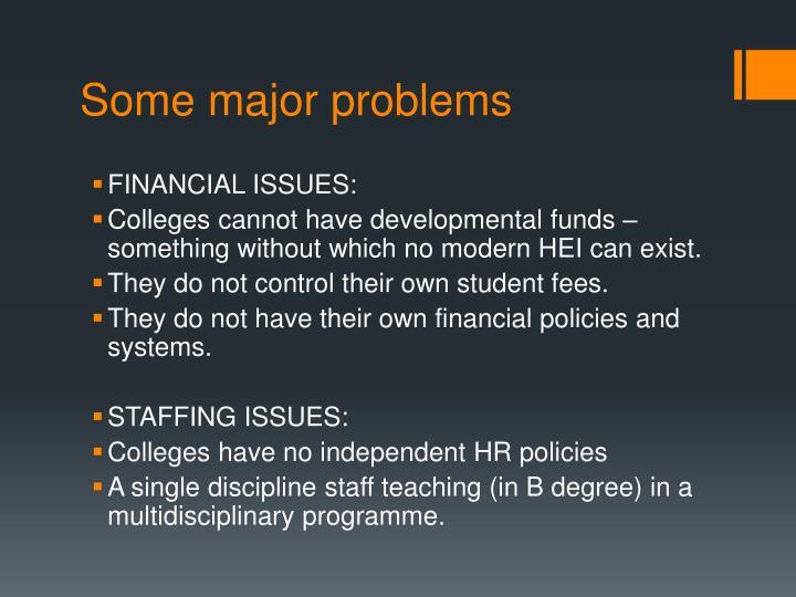 Some major problems