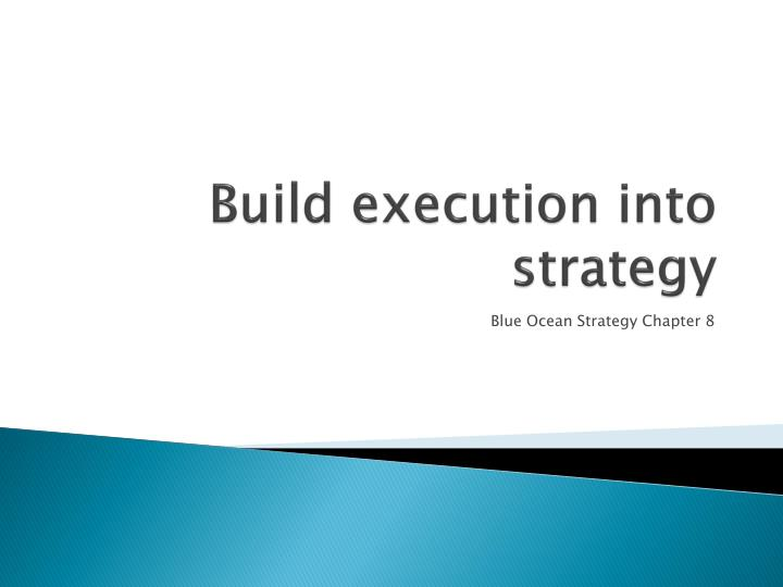 build execution into strategy n.