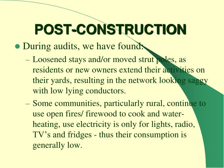POST-CONSTRUCTION