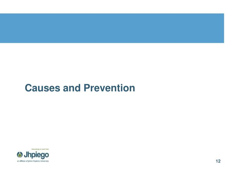Causes and Prevention