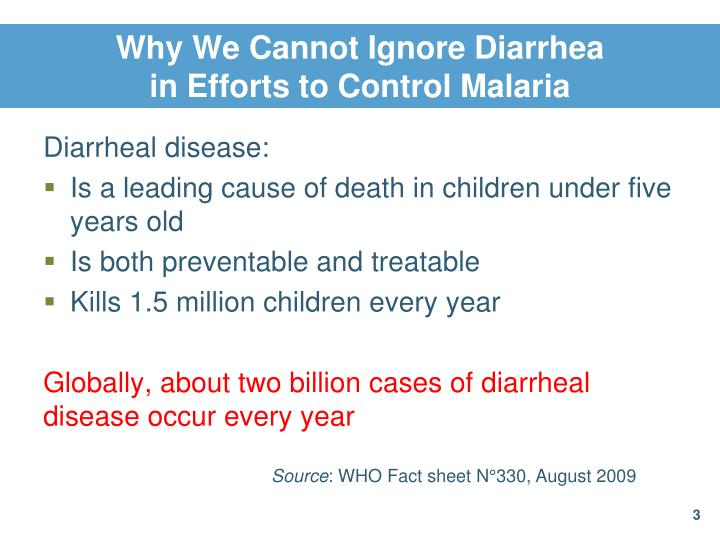 Why we cannot ignore diarrhea in efforts to control malaria