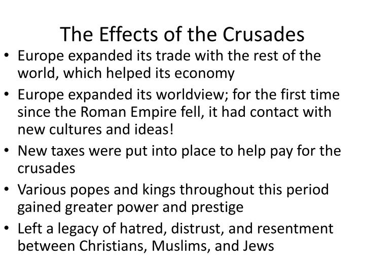 The Effects of the Crusades