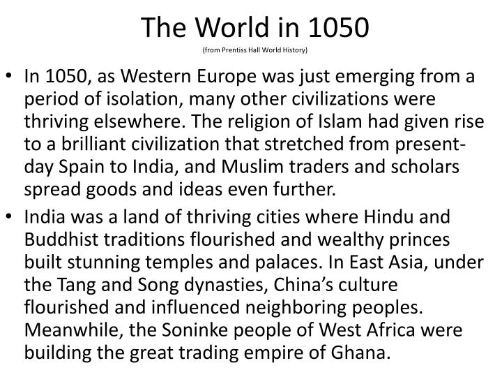 The World in 1050