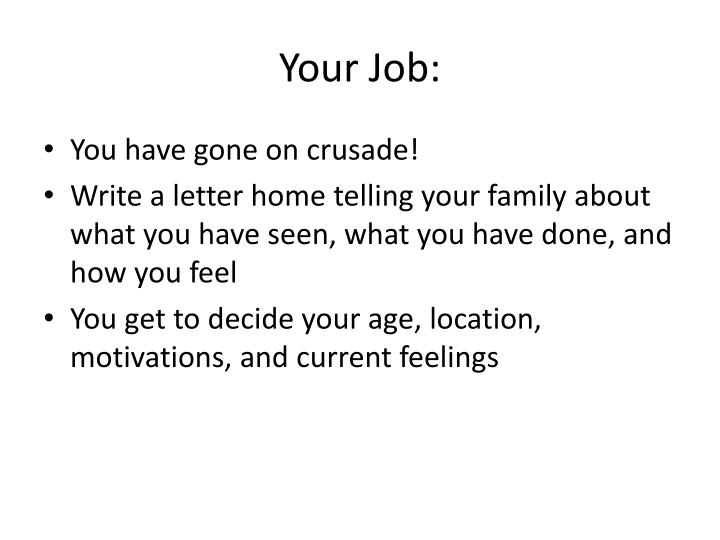 Your Job:
