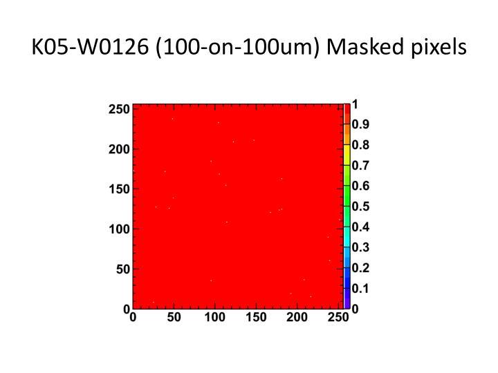 K05-W0126 (100-on-100um) Masked pixels