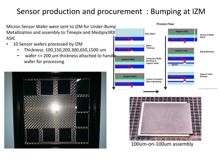 Sensor production and procurement bumping at izm