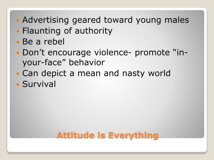 Advertising geared toward young males