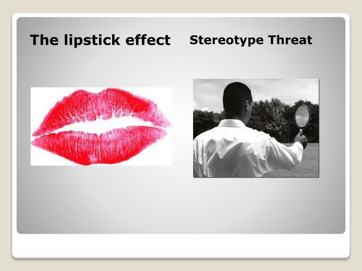 The lipstick effect