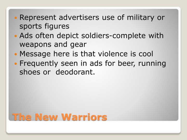 Represent advertisers use of military or sports figures