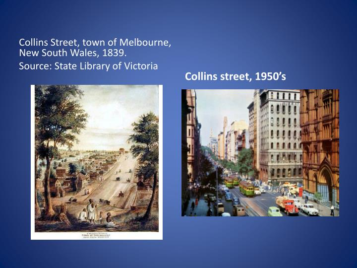 Collins Street, town of Melbourne, New South Wales, 1839.