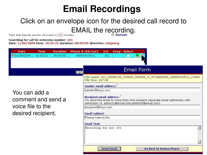 Email Recordings