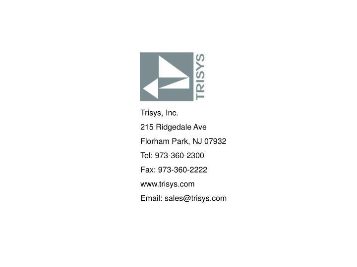 Trisys, Inc.
