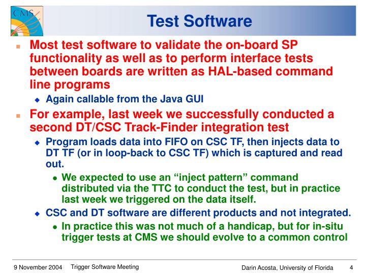 Test Software