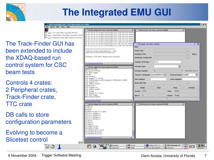 The Integrated EMU GUI