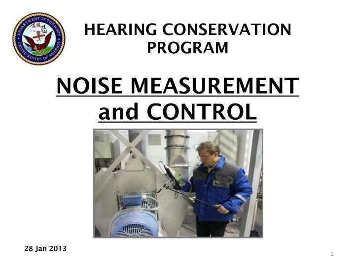 noise measurement and control n.
