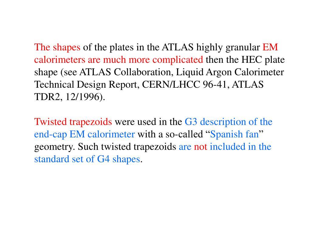 PPT - Status of ATLAS Liquid Argon Calorimeter Simulations
