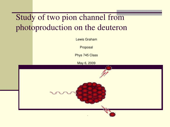 study of two pion channel from photoproduction on the deuteron n.