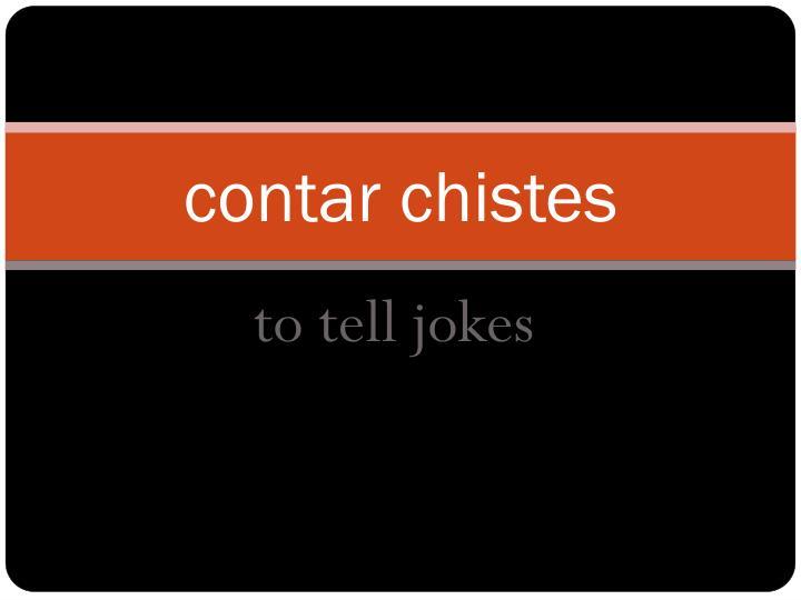 contar chistes