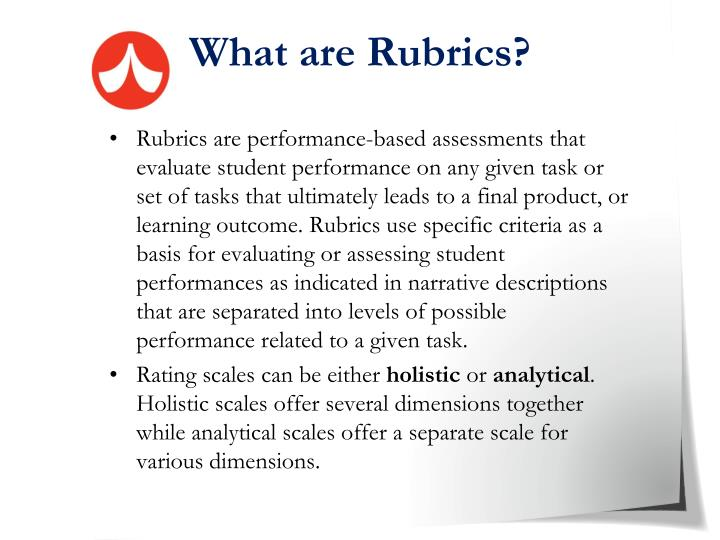 What are Rubrics?