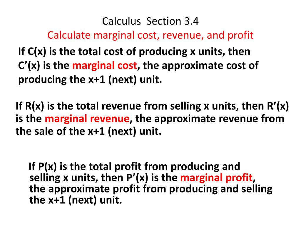 calculate total revenue and marginal revenue