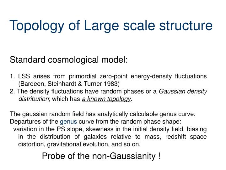 Topology of large scale structure
