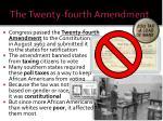 the twenty fourth amendment