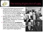 the voting rights act of 19652