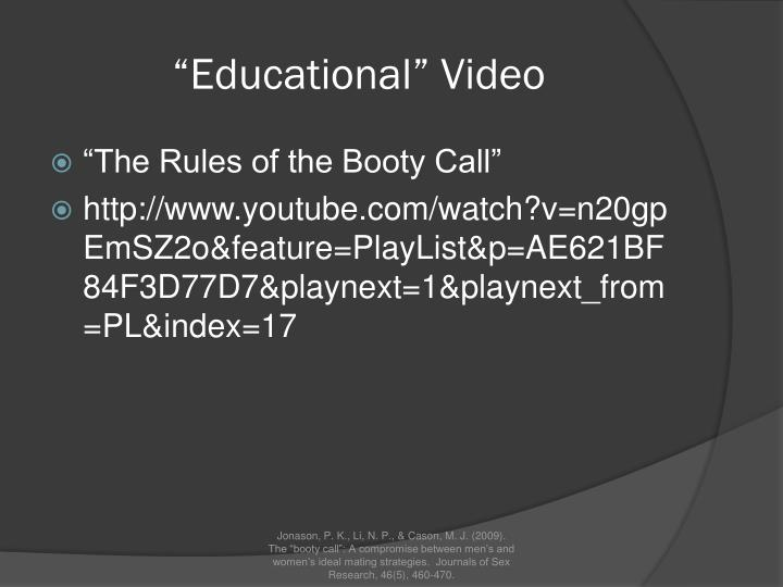 booty call rules