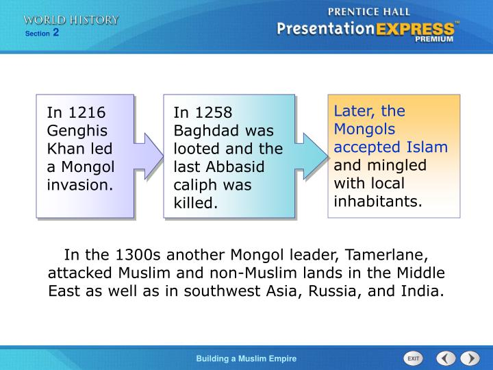 Later, the Mongols