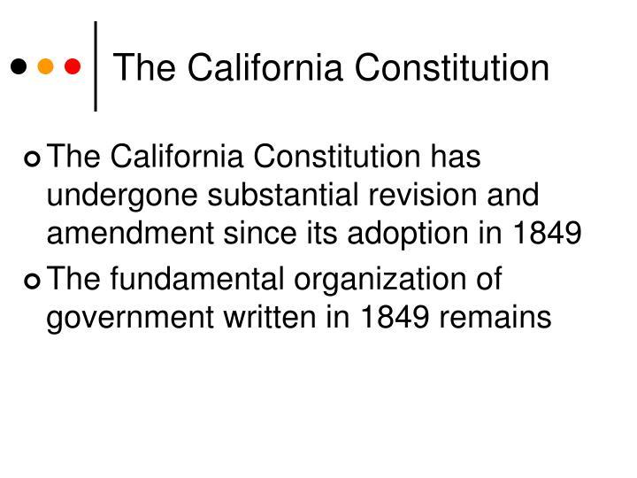 The california constitution1
