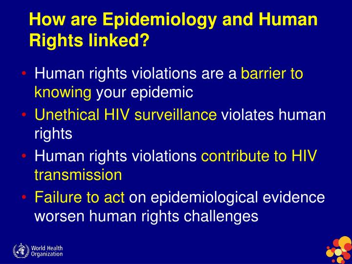 How are Epidemiology and Human Rights linked?