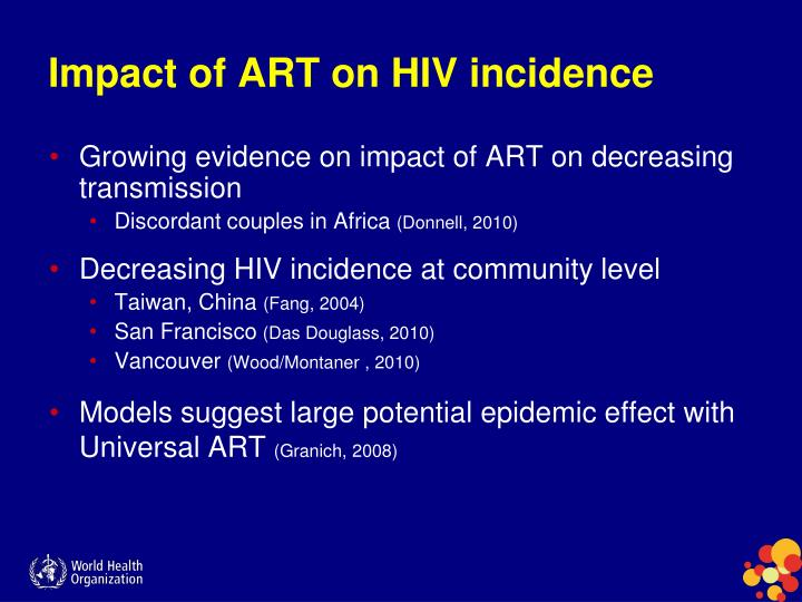 Impact of ART on HIV incidence